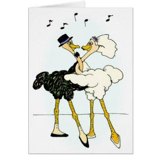 Ostrich Wedding Card