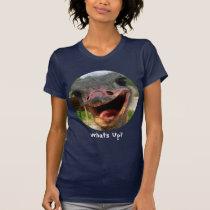 Ostrich What's Up Circle Text Shirt