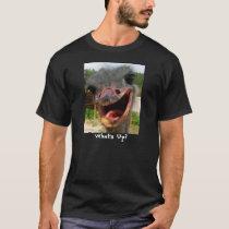 Ostrich What's Up Text Shirt
