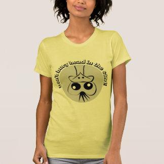 Ostriche - entierro de su cabeza en la arena camisetas