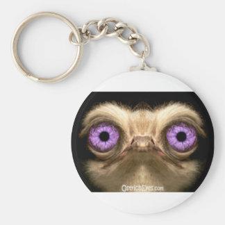 OstrichFaceForward Keychain