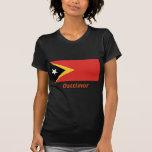 Osttimor Flagge mit Namen Tee Shirts