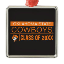 OSU Cowboys Alumni Metal Ornament