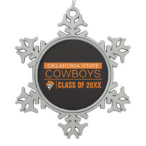 OSU Cowboys Alumni Snowflake Pewter Christmas Ornament