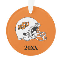 OSU Cowboys Helmet Ornament