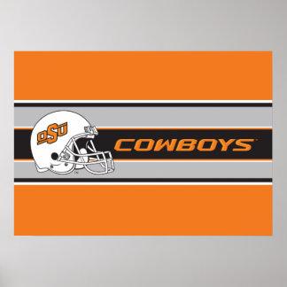 OSU Cowboys Helmet Poster