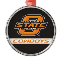 OSU Cowboys Metal Ornament