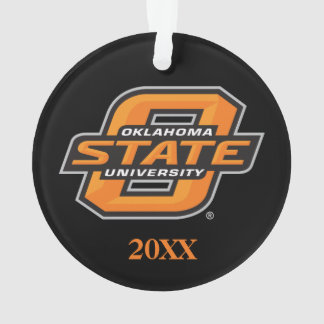 OSU Cowboys on black Ornament