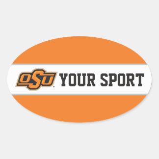 OSU Customize Your Sport Oval Sticker