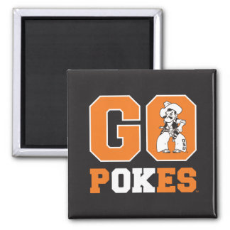 OSU Go Pokes 2 Inch Square Magnet