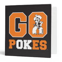 OSU Go Pokes 3 Ring Binder