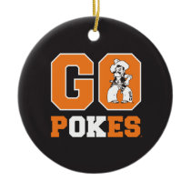 OSU Go Pokes Ceramic Ornament