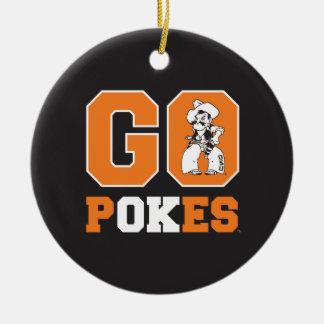 OSU Go Pokes Ceramic Ornament