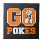 """OSU Go Pokes Ceramic Tile<br><div class=""""desc"""">Check out these official Oklahoma State University products! Personalize your own OSU Cowboy merchandise on Zazzle.com. These products are perfect for the OSU student,  alumni,  or fan in your life.</div>"""