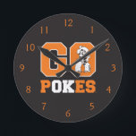 "OSU Go Pokes Round Clock<br><div class=""desc"">Check out these official Oklahoma State University products! Personalize your own OSU Cowboy merchandise on Zazzle.com. These products are perfect for the OSU student,  alumni,  or fan in your life.</div>"