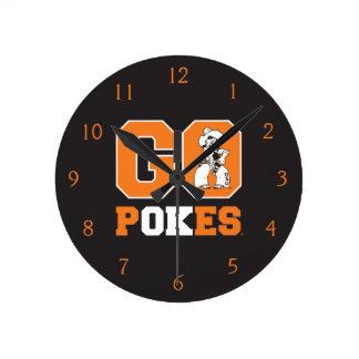 OSU Go Pokes Round Clock