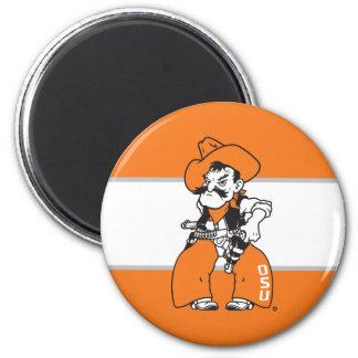 OSU Pistol Pete 2 Inch Round Magnet