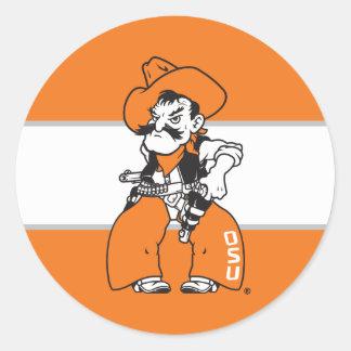 OSU Pistol Pete Classic Round Sticker