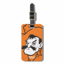 OSU Pistol Pete Head Bag Tag