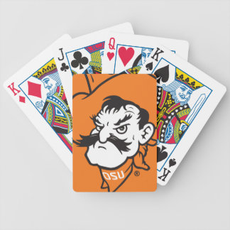 OSU Pistol Pete Head Bicycle Playing Cards