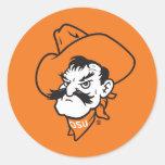 OSU Pistol Pete Head Classic Round Sticker