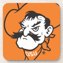 OSU Pistol Pete Head Drink Coaster