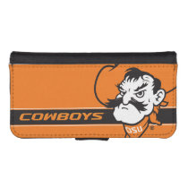 OSU Pistol Pete Head Wallet Phone Case For iPhone SE/5/5s