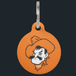 "OSU Pistol Pete Head Pet Tag<br><div class=""desc"">Check out these official Oklahoma State University products! Personalize your own OSU Cowboy merchandise on Zazzle.com. These products are perfect for the OSU student,  alumni,  or fan in your life.</div>"