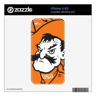 OSU Pistol Pete Head Skins For The iPhone 4S