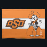 """OSU Pistol Pete Placemat<br><div class=""""desc"""">Check out these official Oklahoma State University products! Personalize your own OSU Cowboy merchandise on Zazzle.com. These products are perfect for the OSU student,  alumni,  or fan in your life.</div>"""