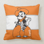 "OSU Pistol Pete Throw Pillow<br><div class=""desc"">Check out these official Oklahoma State University products! Personalize your own OSU Cowboy merchandise on Zazzle.com. These products are perfect for the OSU student,  alumni,  or fan in your life.</div>"
