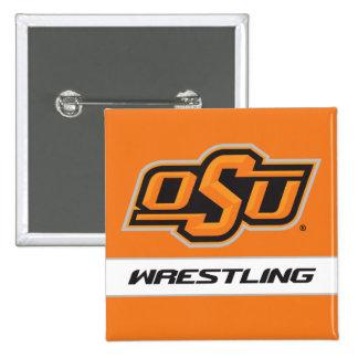 OSU Wrestling Pinback Button
