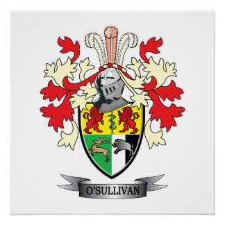 O'Sullivan Coat of Arms Poster