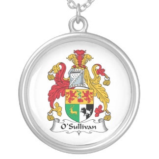 O'Sullivan Family Crest Silver Plated Necklace