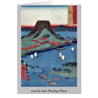 osumi by Ando, Hiroshige Ukiyoe Stationery Note Card