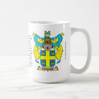 Oswald el origen el significado y el escudo taza de café
