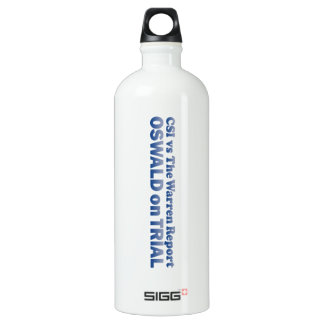 Oswald on Trial - Mult-Products Aluminum Water Bottle