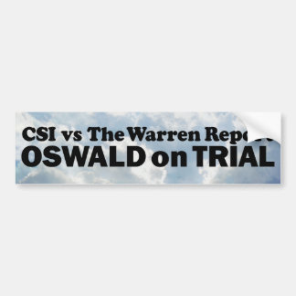 Oswald on Trial - Mult-Products Car Bumper Sticker