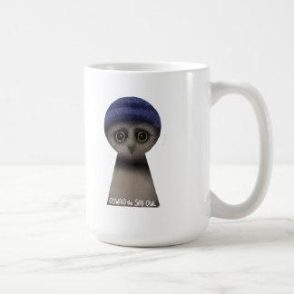 Oswald the Sad Owl Classic White Coffee Mug
