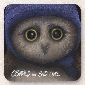 Oswald the Sad Owl Drink Coasters