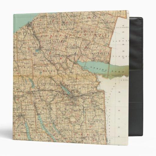 """Oswego, Cayuga, condados del Onondaga Carpeta 1 1/2"""""""