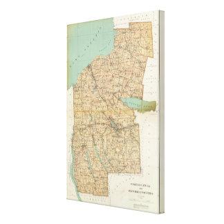 Oswego, Cayuga, condados del Onondaga Lienzo Envuelto Para Galerías