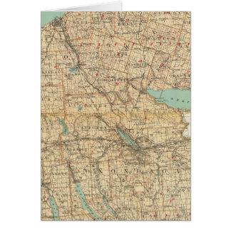 Oswego, Cayuga, condados del Onondaga Tarjeta De Felicitación
