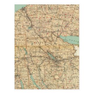 Oswego, Cayuga, condados del Onondaga Postales