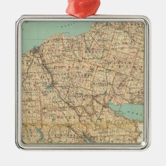 Oswego, Cayuga, Onondaga counties Metal Ornament