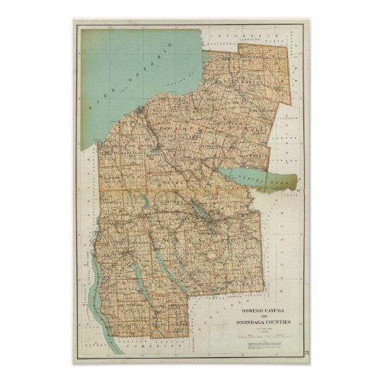 Oswego, Cayuga, Onondaga counties Poster