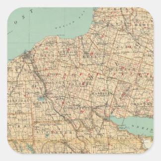Oswego, Cayuga, Onondaga counties Square Sticker