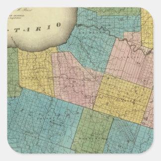 Oswego County Square Sticker