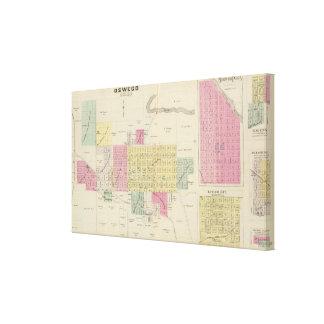 Oswego, Neosho Falls, Havens, and Butler, Kansas Canvas Print