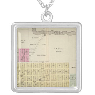 Oswego, Neosho Falls, Havens, and Butler, Kansas Silver Plated Necklace